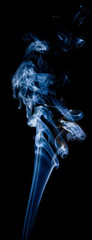 wisp of smoke on black;