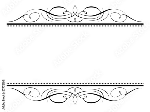 Vector calligraphy vignette penmanship decorative frame