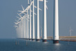 Big windmills along the Dutch coast