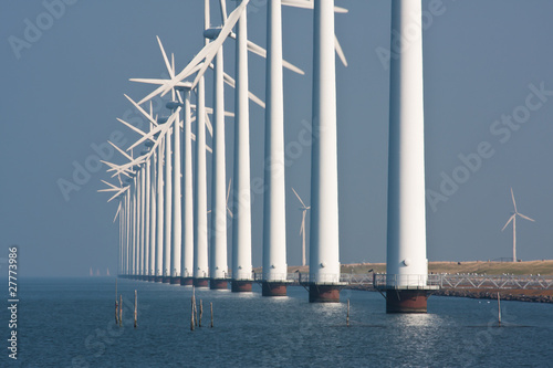 Big windmills along the Dutch coast