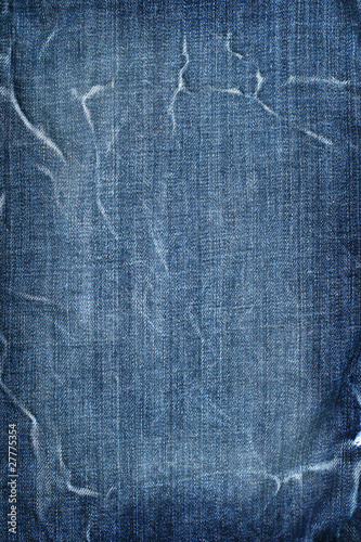 Cotton blue jeans texture background