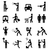 people pictogram poster