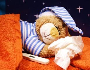 trotz Schnupfen schlafen