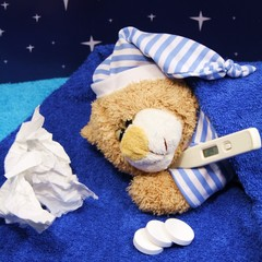 kranker Teddy schläft