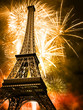 eiffel with fireworks