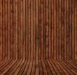 Boden und Wand aus Holzbretter