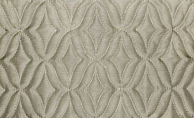 beige fabric material texture with rhombs