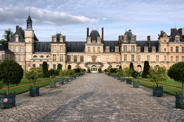 Fontainebleau chateau in France