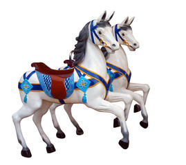 Two Merry Go Round Horses