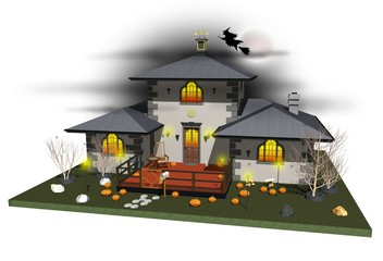 Casa Delle Streghe-Halloween Witch House-3D