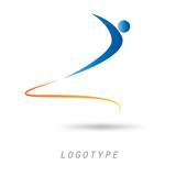 Logo man and the concept of fast forwarding