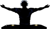 Fototapety DJ and record decks