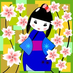 cute kokeshi doll
