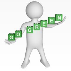 Cubes - 232 - GO GREEN