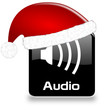 Button Audio black Weihnachten