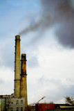 factory smokestack tube poster