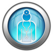 "Glossy 3D effect button ""Physician"""