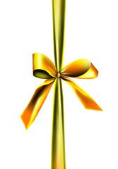 Goldene Geschenk Schleife
