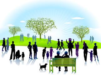 Personen im Park