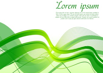 Vibrant wavy background