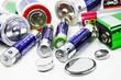 canvas print picture - Batterien