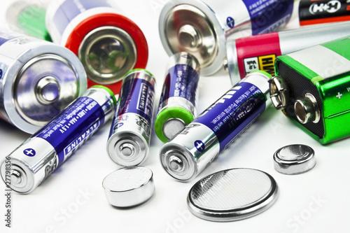 canvas print picture Batterien