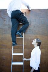 Climbing career ladders