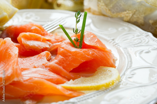 salmon on dish-salmone