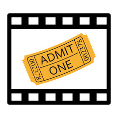 Cinema film and ticket