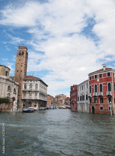 Venice 's Grand Canal with Cloud and sky