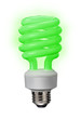 Green power of the fluorescent bulb saves lots of energy.