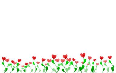 Heart flowers garden