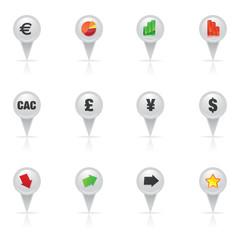 bouton, crise et reprise de la bourse - CAC40