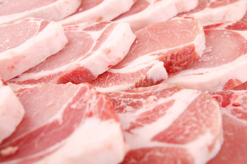 slices of fresh pork
