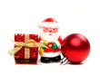 Christmas Santa, gift and bauble arrangement