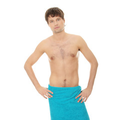 Handsome young man with the towel