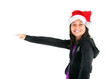 Young girl with christmas hat