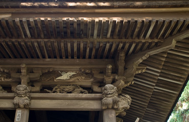 roof of shrine, japan