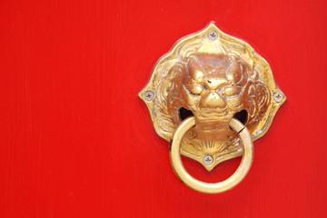 Tradtional asian door knob