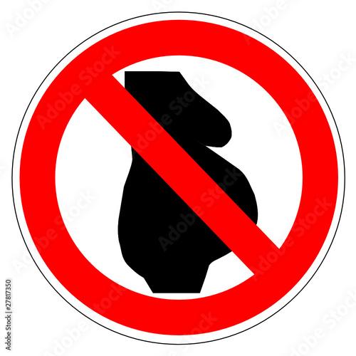 Panneau interdit aux femmes enceinte
