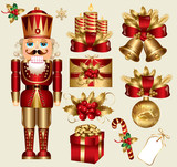 Vector set: traditional christmas elements