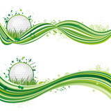 vector illustration of golf sport