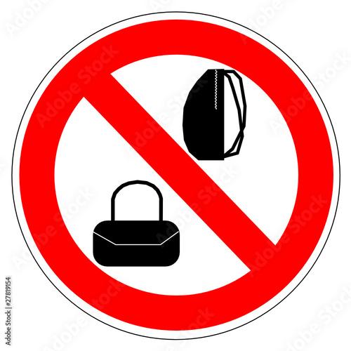 panneau interdit aux sacs fichier vectoriel libre de droits sur la banque d 39 images. Black Bedroom Furniture Sets. Home Design Ideas