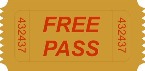 ticket free pass