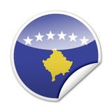 Pegatina bandera Kosovo con reborde poster