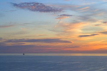A tanker in St Brides Bay,