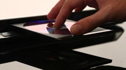 DVD player. Disk installation