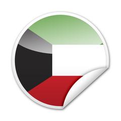 Pegatina bandera Kuwait con reborde