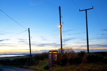 A telephone Box at St Brides Bay