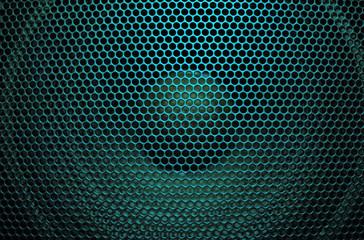 Aquamarine audio speaker